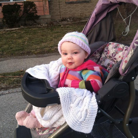 My 11-month-old daughter, Annie, out for a walk on one of the warmer days we've had.<br /> <br /> Photographer's Name: Lindsay Saunders<br /> Photographer's City and State: Alexandria, Ind.