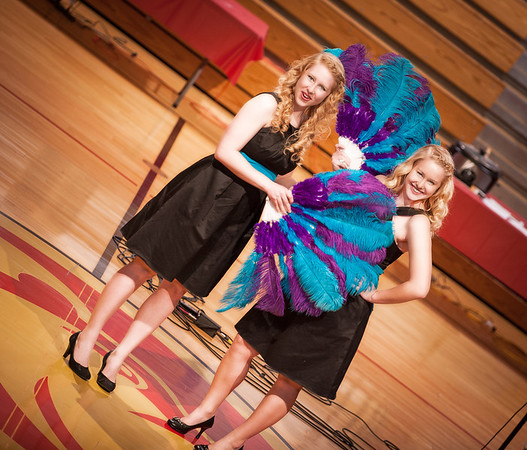 "My daughters Briana and Cassandra Ayers performing  ""The Sisters Song"" for the Liberty Christian Variety Show.<br /> <br /> Photographer's Name: Terry Lynn Ayers<br /> Photographer's City and State: Anderson, IN"