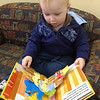 Michael Andrew Porter (16 months) of Edgewood enjoys some quiet time at the Anderson Public Library on Sunday April 14. <br /> <br /> Photographer's Name: Michael Porter<br /> Photographer's City and State: Anderson, IN
