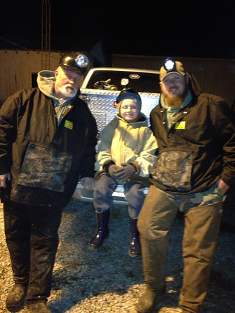 Isaac Weaver's first time hunting with Papa Ronnie Roberson and Uncle Justin Roberson.<br /> <br /> Photographer's Name: Cyndi Roberson<br /> Photographer's City and State: Anderson, Ind.