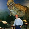 On St. Ambrose Church's  recent trip to the Creation Museum, Art Tate posed with a dinosaur.<br /> <br /> Photographer's Name: Art Tate<br /> Photographer's City and State: Anderson, IN