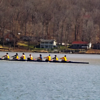 Rowing team practice on Lake Lemon.<br /> <br /> Photographer's Name: J.R. Rosencrans<br /> Photographer's City and State: Alexandria, Ind.