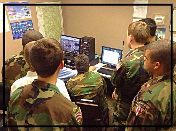Flight Simulator training for cadets in the Anderson Composite GLR-IN 223 Squadron at the Anderson Airport.<br /> <br /> Photographer's Name: Davina Martin<br /> Photographer's City and State: Muncie, Ind.