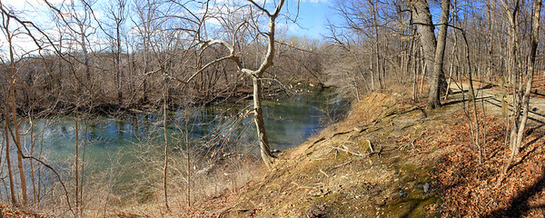 Here is a wide view on a beautiful spring evening at Mounds Park of Trail 5 and White River.<br /> <br /> Photographer's Name: Jerry Byard<br /> Photographer's City and State: Anderson, Ind.