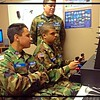 Civil Air Patrol cadets gets hands on training on a flight simulator at the Anderson Airport.<br /> <br /> Photographer's Name: Davina Martin<br /> Photographer's City and State: Muncie, Ind.