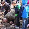 A group hike at Mounds Park was learning about skunk cabbage and some of the group tested why it was so named.<br /> <br /> Photographer's Name: Jerry Byard<br /> Photographer's City and State: Anderson, Ind.