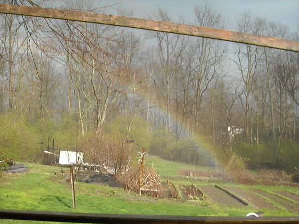 Apparently there is a pot of gold in our backyard. This was today, March 30. <br /> <br /> Photographer's Name: Carol Miller<br /> Photographer's City and State: Anderson, Ind.
