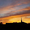 Sunset behind Grace Baptist Church on Hartman Road in North Anderson.<br /> <br /> Photographer's Name: Micah Mitchell<br /> Photographer's City and State: Anderson, Ind.