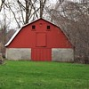 """Little Red Barn, On a Farm In Indiana.""<br /> <br /> Photographer's Name: J.R. Rosencrans<br /> Photographer's City and State: Alexandria, Ind."