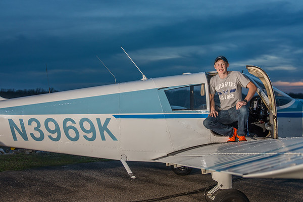 My son, Dawson Ayers with the plane he is learning to fly.<br /> <br /> Photographer's Name: Terry Lynn Ayers<br /> Photographer's City and State: Anderson, Ind.