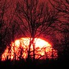 Sun setting seen from Madison County on the first Saturday of April.<br /> <br /> Photographer's Name: Harry Van Noy<br /> Photographer's City and State: Lafayette Township, Ind.