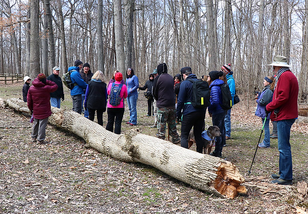 Kevin is leading an informational hike at Mounds Park on Saturday.<br /> <br /> Photographer's Name: Jerry Byard<br /> Photographer's City and State: Anderson, Ind.