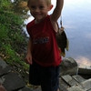 Nolan after he reeled in his first fish.<br /> <br /> Photographer's Name: Amber Nance<br /> Photographer's City and State: Anderson, Ind.