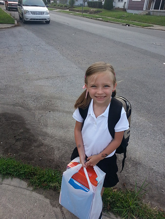 EmiLee's first day of first grade at Eastside Elementary.<br /> <br /> Photographer's Name: Ellen  Cox<br /> Photographer's City and State: Anderson, Ind.