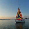 Jerry and Jane Marlatt from Hagerstown enjoying an evening sail at Prairie Creek in Selma, Ind.<br /> <br /> Photographer's Name: Evelyn Bauer<br /> Photographer's City and State: Anderson, Ind.