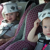 Twin sisters McKenzie and Sophie Bell are wearing their new hats.<br /> <br /> Photographer's Name: Carole Bell<br /> Photographer's City and State: Anderson, Ind.