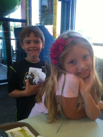 Spencer Hisle and Lilly McIntyre have been best friends and having play dates at McDonald's play land for over two years. Lilly is the grandaughter of Tina Snyder. They met at the play land and have had play dates there at least once a month since they met!<br /> <br /> Photographer's Name: Tina Snyder<br /> Photographer's City and State: Anderson, Ind.