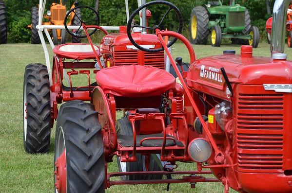 Markleville Jamboree Tractor Show entrants.<br /> <br /> Photographer's Name: John Brase<br /> Photographer's City and State: Markleville, Ind.