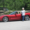 Great-grandmother Nancy Rice and her '04 Corvette.<br /> <br /> Photographer's Name: Rex Rice<br /> Photographer's City and State: Middletown, Ind.