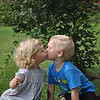 Kissing cousins: Laelyn and Gavin Whitaker, great-grandchildren of Marty Whitaker of Anderson, Ind.<br /> <br /> Photographer's Name: Marty Whitaker<br /> Photographer's City and State: Anderson, Ind.