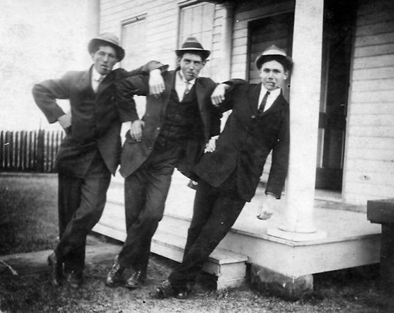 """My great-grandfather, Henry Toppe, and his brothers back in 1914. He retired as the assistant superintendent at the reformatory back in 1962. They definitely looked like """"rascals"""" didn't they?!<br /> <br /> Photographer's Name: Colleen Sanders-Brown<br /> Photographer's City and State: Anderson, Ind."""
