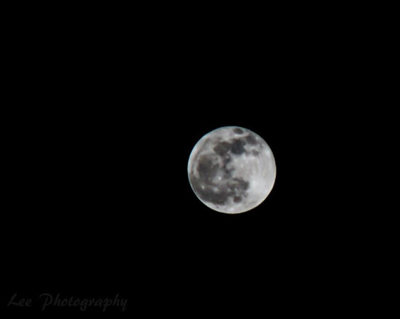 A full moon in Anderson.<br /> <br /> Photographer's Name: Ashley Pett<br /> Photographer's City and State: Alexandria, Ind.