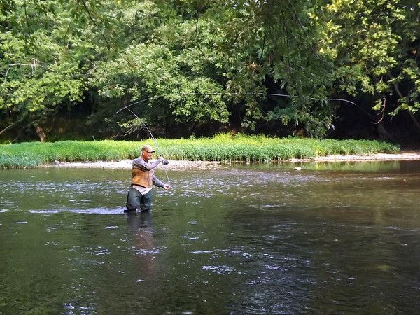 J.R. Rosencrans fishing the river. Photo taken By White River Watchers of Anderson.<br /> <br /> Photographer's Name: J.R. Rosencrans<br /> Photographer's City and State: Alexandria, Ind.