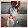 Channing Kerr and her fish that she caught with her daddy Zach Kerr while on vacation in Holland, Mich.<br /> <br /> Photographer's Name: Brandy Kerr<br /> Photographer's City and State: Anderson, Ind.
