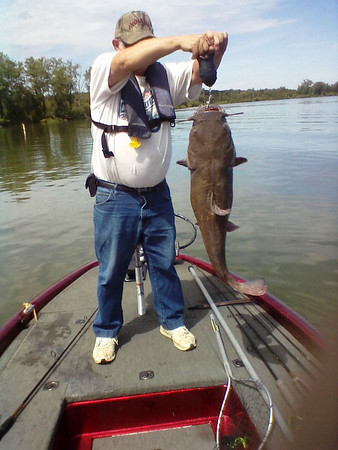 One to brag about: a 23-pound, 37-inch Flathead Catfish.<br /> <br /> Photographer's Name: Danny Lacy<br /> Photographer's City and State: Anderson, Ind.