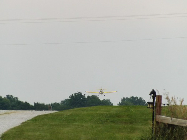 Crop dusting isn't a job, it's an adventure.<br /> <br /> Photographer's Name: J.R. Rosencrans<br /> Photographer's City and State: Alexandria, Ind.