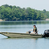 A Department of Natural Resources conservation officer patrolling Summit Lake.<br /> <br /> Photographer's Name: Pete Domery<br /> Photographer's City and State: Markleville, Ind.