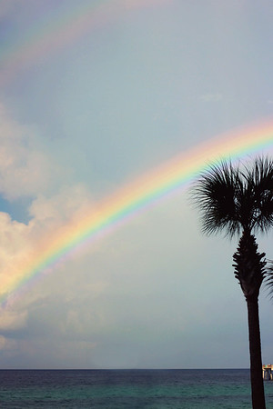 Beautiful rainbow during vacation in Panama City Beach, Florida.<br /> <br /> Photographer's Name: Shaley  Passmore<br /> Photographer's City and State: Anderson, Ind.