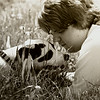 A boy and his dog.<br /> <br /> Photographer's Name: Angie Elsten<br /> Photographer's City and State: Anderson, Ind.