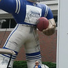Giant football player<br /> <br /> Photographer's Name: Kelly Ray<br /> Photographer's City and State: Lafayette, Ind.