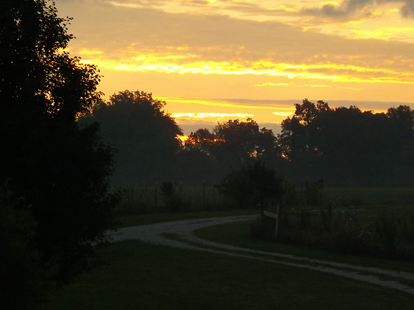 Start of a new day on the farm.<br /> <br /> Photographer's Name: J.R. Rosencrans<br /> Photographer's City and State: Alexandria, Ind.