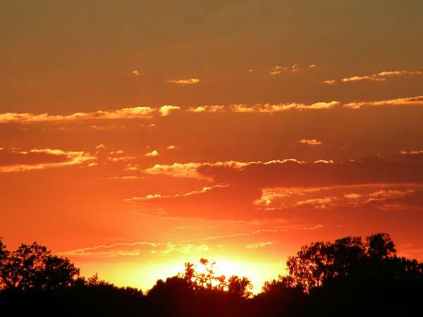 A recent sunset in Anderson.<br /> <br /> Photographer's Name: Rita Drews<br /> Photographer's City and State: Anderson, Ind.