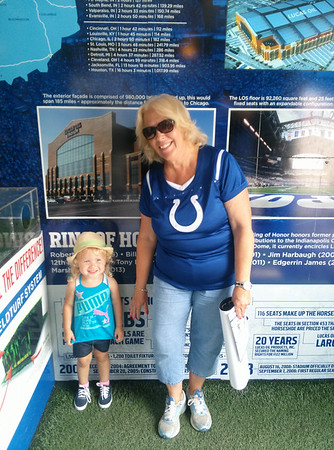 Colts Camp with Grandma.<br /> <br /> Photographer's Name: Kelly Ray<br /> Photographer's City and State: Lafayette, Ind.