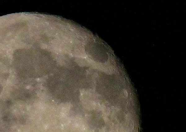 Here's a close look at the Super Moon on Monday evening.<br /> <br /> Photographer's Name: Jerry Byard<br /> Photographer's City and State: Anderson, Ind.