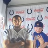 Colts camp with my grandson Gavin Gould!<br /> <br /> Photographer's Name: Julie Sparks<br /> Photographer's City and State: Anderson, Ind.