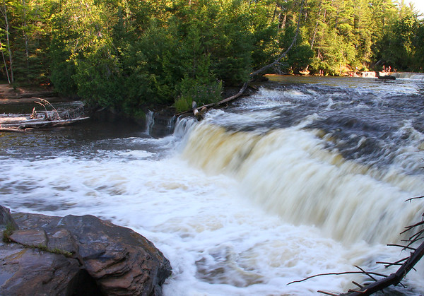 This is a late afternoon view of the Lower Tahquamenon Falls.<br /> <br /> Photographer's Name: Jerry Byard<br /> Photographer's City and State: Anderson, Ind.