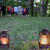 Aaron Douglas led an evening lantern and candle lit hike to Circle Mound on Saturday evening.<br /> <br /> Photographer's Name: Jerry Byard<br /> Photographer's City and State: Anderson, Ind.
