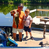 Eli Coxe and J.R. Rosencrans catching a big bass.<br /> <br /> Photographer's Name: J.R. Rosencrans<br /> Photographer's City and State: Alexandria, Ind.