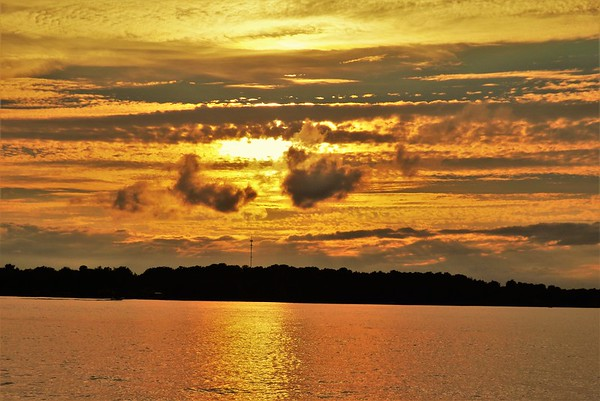 Sun rise at Lake Wawasee<br /> <br /> Photographer's Name: J.R. Rosencrans<br /> Photographer's City and State: Alexandria, Ind.
