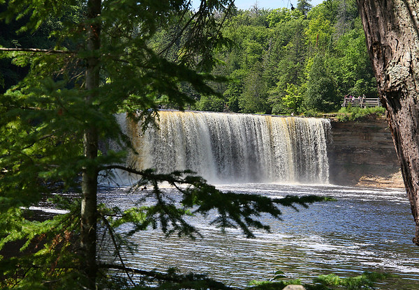 This is Tahquamenon Falls viewed from the lower level.<br /> <br /> Photographer's Name: Jerry Byard<br /> Photographer's City and State: Anderson, Ind.