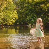 My granddaughter Evelyn Fox wading in Kilbuck Creek at Shadyside Park.<br /> <br /> Photographer's Name: Terry Lynn Ayers<br /> Photographer's City and State: Anderson, Ind.