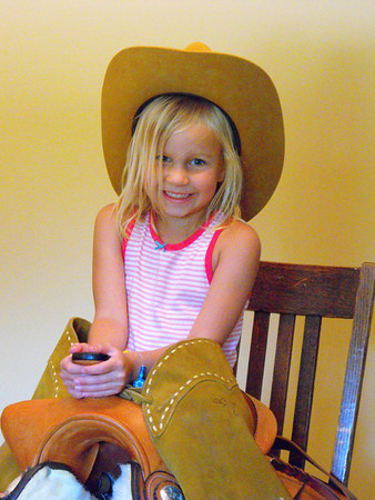 Cowgirl: Granddaughter Katie Gray at our house.<br /> <br /> Photographer's Name: J.R. Rosencrans<br /> Photographer's City and State: Alexandria, Ind.