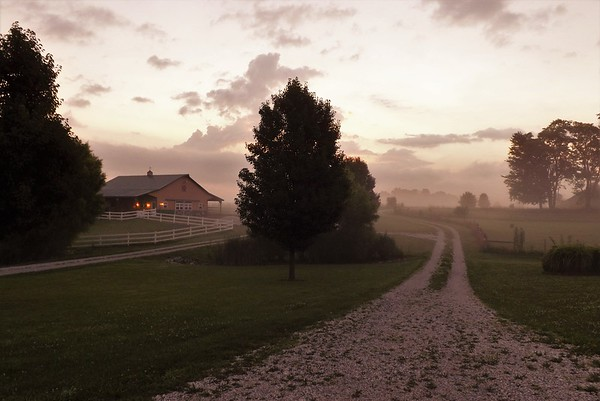 A touch of farm fog in Richland Township.<br /> <br /> Photographer's Name: J. R. Rosencrans<br /> Photographer's City and State: Alexandria, Ind.