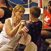 Linda P. Rosencrans with her grandson Eli Coxe at Gymnastic Class,,, Anderson, Ind.<br /> <br /> Photographer's Name: J. R. Rosencrans<br /> Photographer's City and State: Alexandria, Ind.