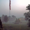 Foggy American flag shot in Richland Township.<br /> <br /> Photographer's Name: J.R. Rosencrans<br /> Photographer's City and State: Alexandria, Ind.