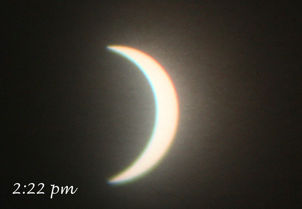 The degree of the eclipse at 2:22 p.m.<br /> <br /> Photographer's Name: Jerry Byard<br /> Photographer's City and State: Anderson, Ind.